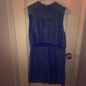 Green and Black Lace Top Shop Dress